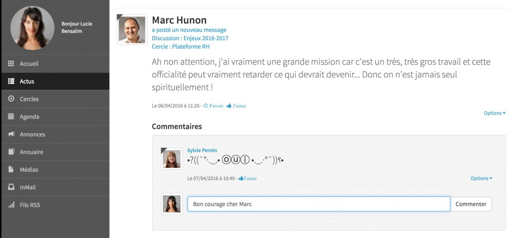 Commentaire-message