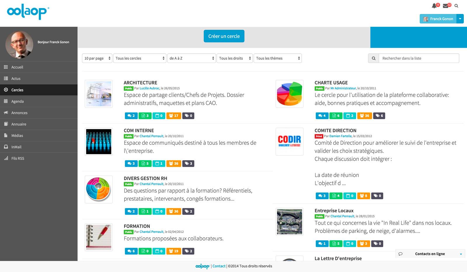 Travail collaboratif en ligne outil collaboratif d for Espace de travail collaboratif